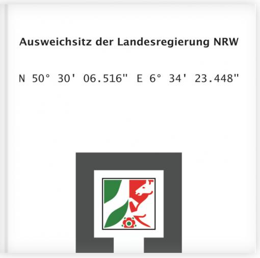 Ausweichsitz der Landesregierung NRW