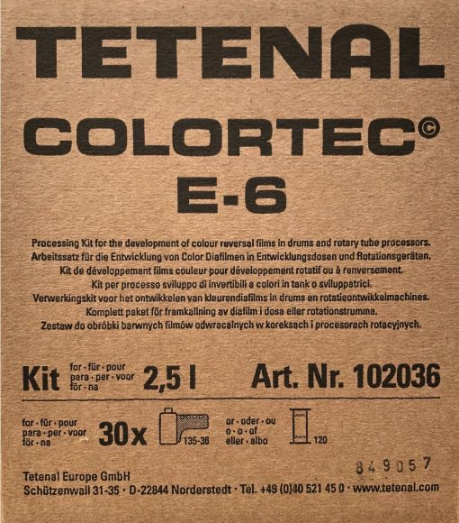 TETENAL Colortec E6 Kit Dose/Rotation 3-Bad für 30 Filme 2500 ml Konzentrat